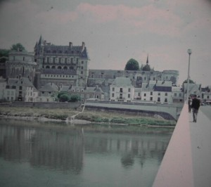 Amboise. Bridge over River Loire in the Loire Castle-Region. june 1964.