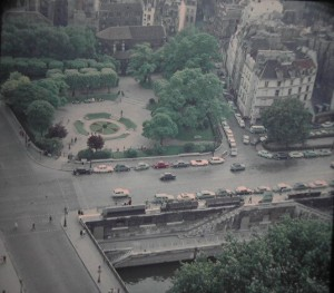 Paris_ Church StJulien-le-Pauvre. 9th century. view from Notre Dame tower. June 1964