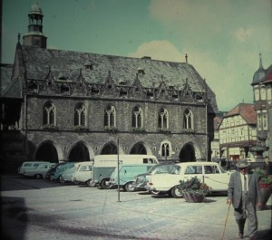 the old Town Hall of Goslar. on Market Place Goslar, August 1964