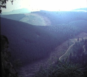 Border to Eastern Germany near Ecker ValleyWater Basin. August 1964