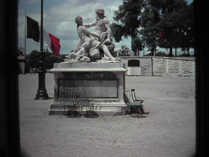 Paris. Statue in the Tuileries Gardens. June 1963