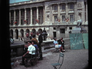 Place de la Concorde, June 1963, teachers and Pupils