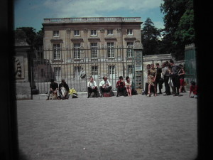 Versailles. Petit Trianon. the whole group of teachers an pupils. June 1963
