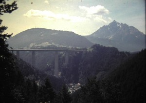 Europa-Motorway bridge to Brenner Pass  July 1965.