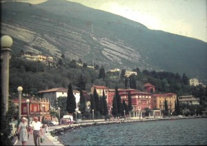Torbole on Lake Garda, July 1965, Italy