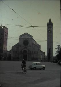 Verona. San Zeno church. Italy July 1965