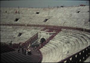 Verona, Roman Srena, July 1965, Italy.