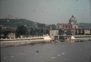 River Adige, Verona, Italy, July 1965
