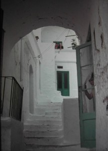 Ostuni, July 1965 inside town, Southern Italy.