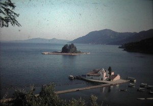 Island of Corfu. Pontikonisi. July 1965.