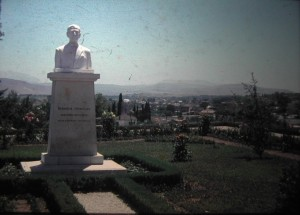 Statue in Ioannina. Epirus, July 1965
