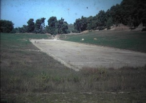 Olympia. the Stadium, where the Ancient Olympic Games were held. July 1965.