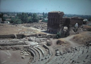 the antique Theatre of Argos in July 1965.