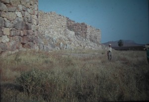 Tyrins, antique fortress off the Cyclopes. July 1965.