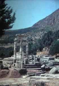 Delphi. Tholos, July 1965.