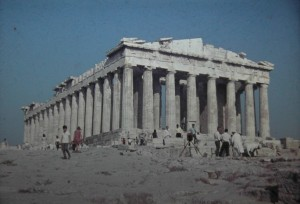 Temple of Parthenon. Athens. July 1965.