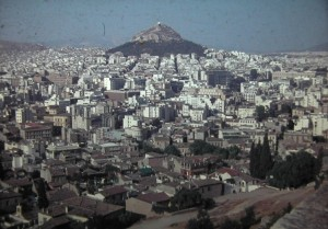 view on the centre of the modern city of Athens in Greece, July 1965.