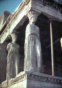 Karyatides of Athens, July 1965.