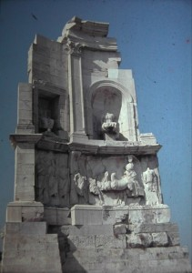 Monument for Philopappus, an ancient philhellene. July 1965.