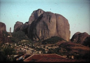 Kastraki, little village near the unbesiegeable rocks of Meteora.