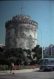 the white Tower. Lefkos Pyrghos, in Thessaloníki. July 1965.