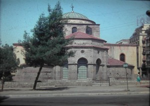 the Aghia Sofia Curch of Thessaloníki. along the via Egnatia road.July 1965.