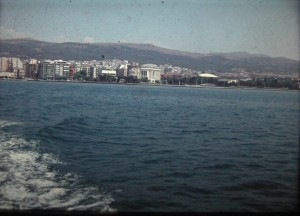 view on Thessaloníki. the second biggest commercial harbour of Greece after Pireefs. july 1965