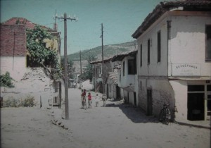 Street view in Titov Veles, in Makedonya one of the Federal Republics of former yougoslavia. 31.july 1965.