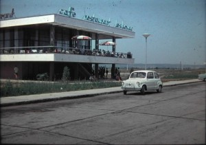 Leskovac, Motorway restaurant. in Serbia, one of the Federal Republics of former Yougo Slavia, 1 August 1965.