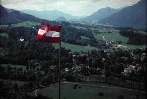 View from Sirius Kugel in Bad Ischl, Salzburger Land 4 August 1965.