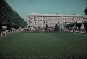 Mirabell Gardens, Salzburg, Austria, city of Wolfgang Amadeus Mozart. 5 August 1965.