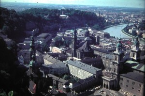 Salzburg, centre of the city. August5 1965.