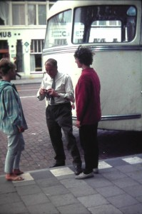 the last view. Mr. Jan Roskam drove the bus safe through Europa. here back in front of the Central Station in Utrecht.August 7. 1965.