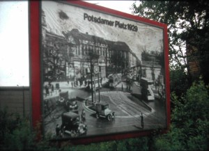 Potsdamer Square before World War 2 in 1929. picture made in June 1973.