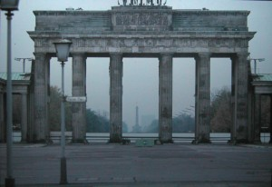 Brandenburg Gate Picture taken with Telelens in October 1981.