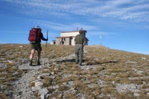 the last hut Gamma before reaching the top