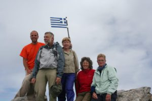 the group on the top of Mount Olymp