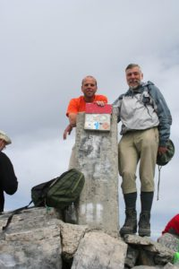 Julius with the Greek Alpine guide safely on the top of Mount Olymp.