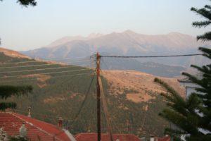Landscape in the neighborhood of mount Olymp