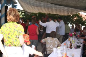 Greek people is always dancing and singing in the restaurants.