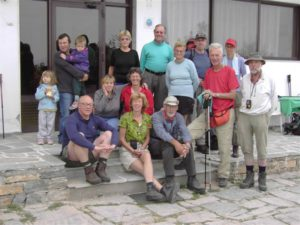 our long distance walkers in front of the hotel in Kokkinopoli