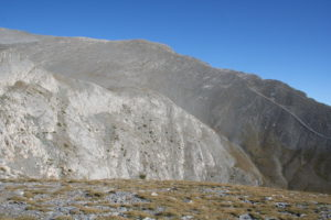 the rough surroundings of Mount Olymp 2917 metres.