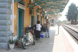 Railroadstation of Kalabaka.