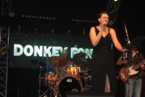 "Group ""Donkey Fonk"" in the Pagode tent on Saturday evening July 7."