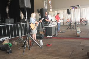 "The ""Amazing Stroopwafels"" playing their show on Saturday afternoon July 7."