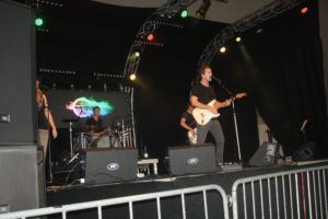 Paul Childers, playing with his band on July 7.